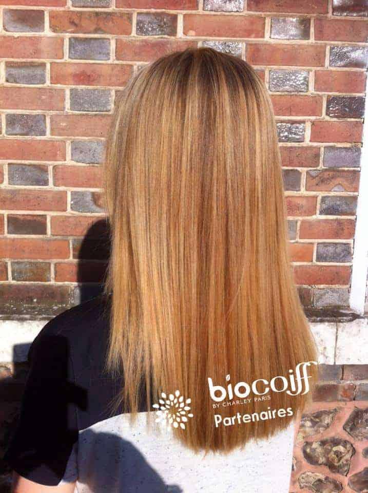 Coloration végétale blond doré