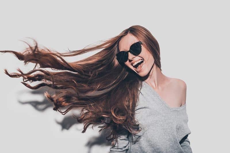 femme cheveux secs