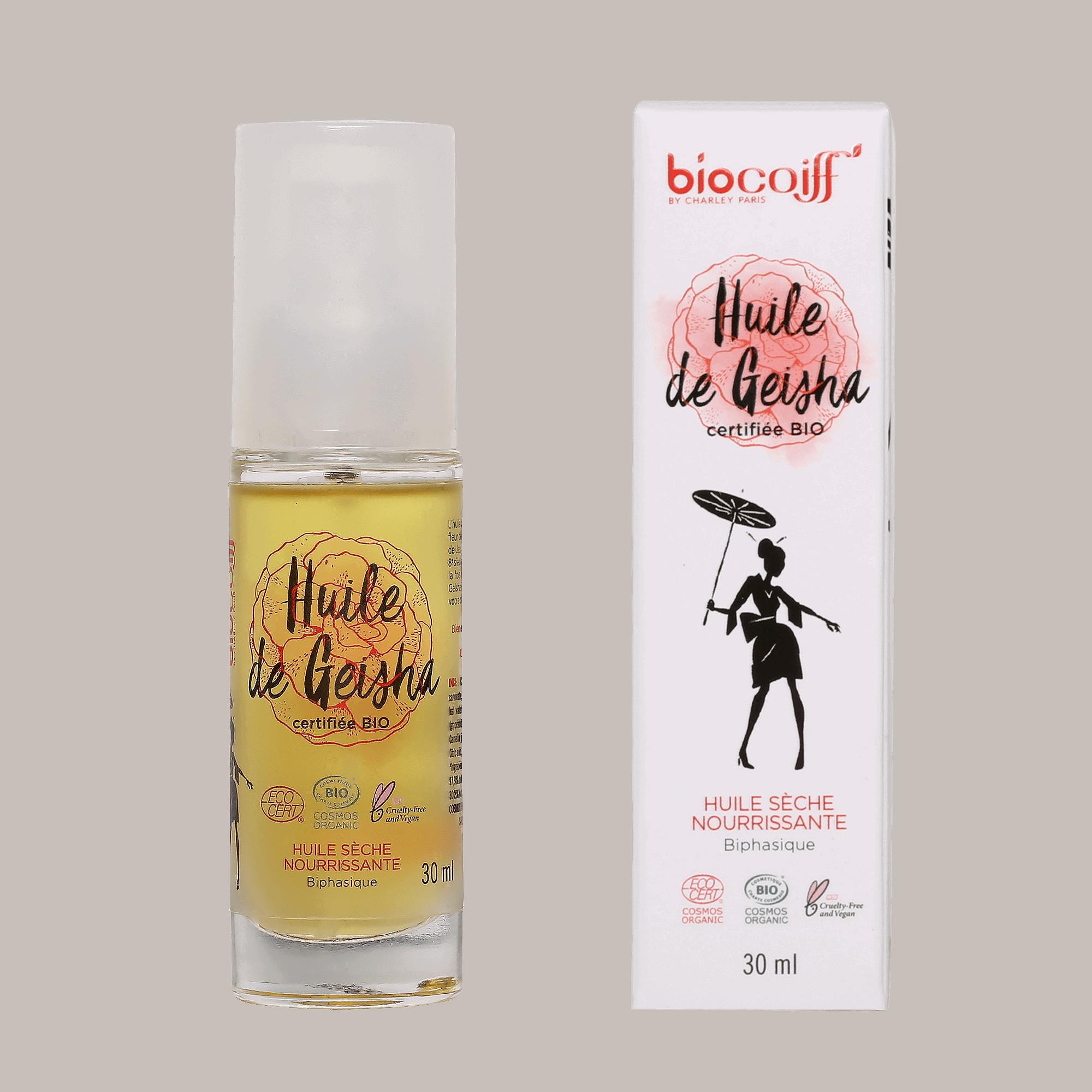 Huile capillaire de Geisha certifiée BIO