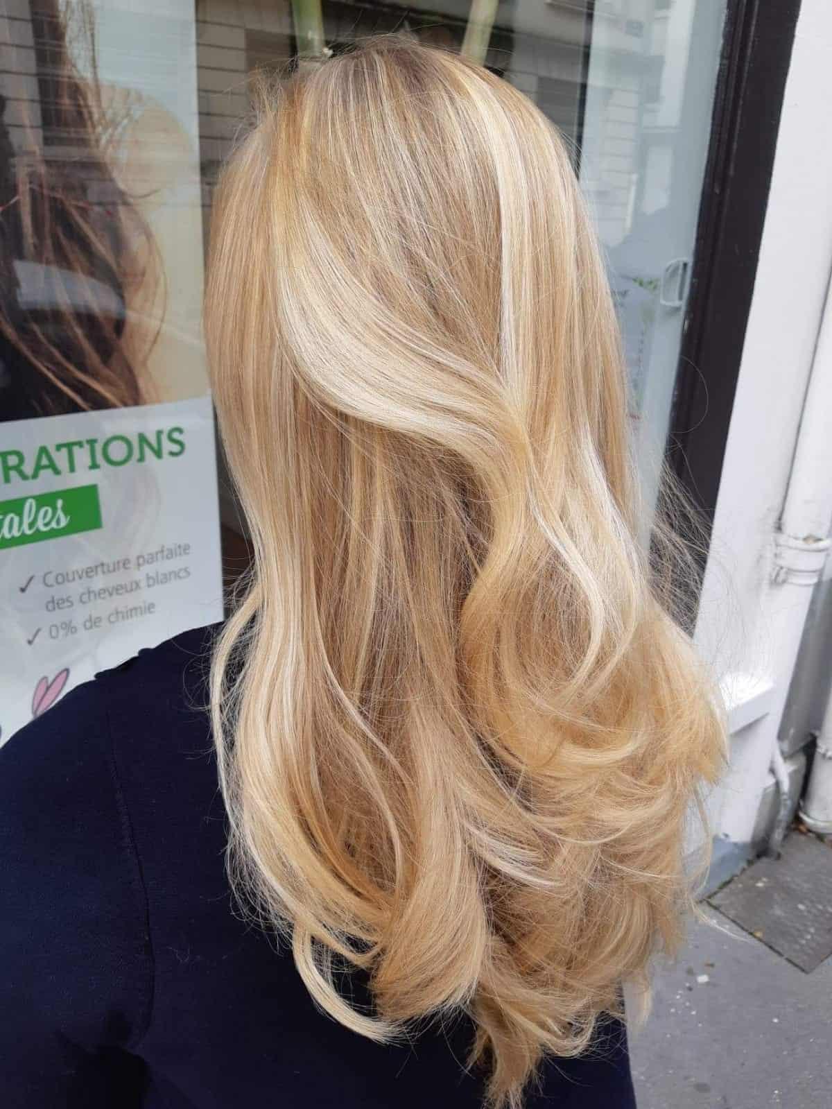 Balayage blond Biocoiff'