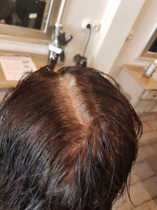 Coloration henné Biocoiff' cheveux blanc avant