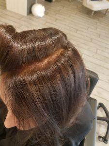 Coloration henné Biocoiff' cheveux blanc après