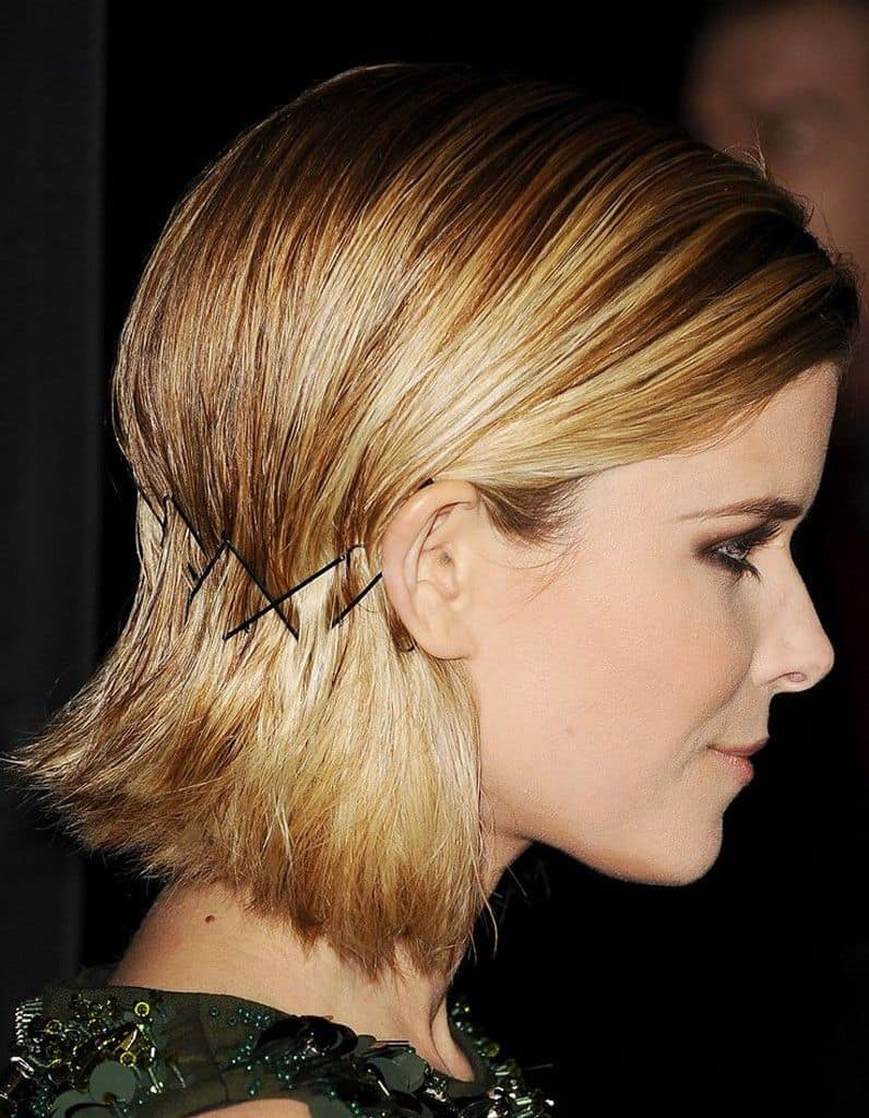 Coiffure rock pince plate