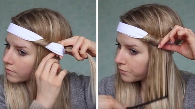 Boucler cheveux bandeau sans chaleur