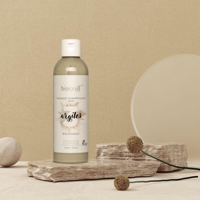 shampoing à l'argile bio