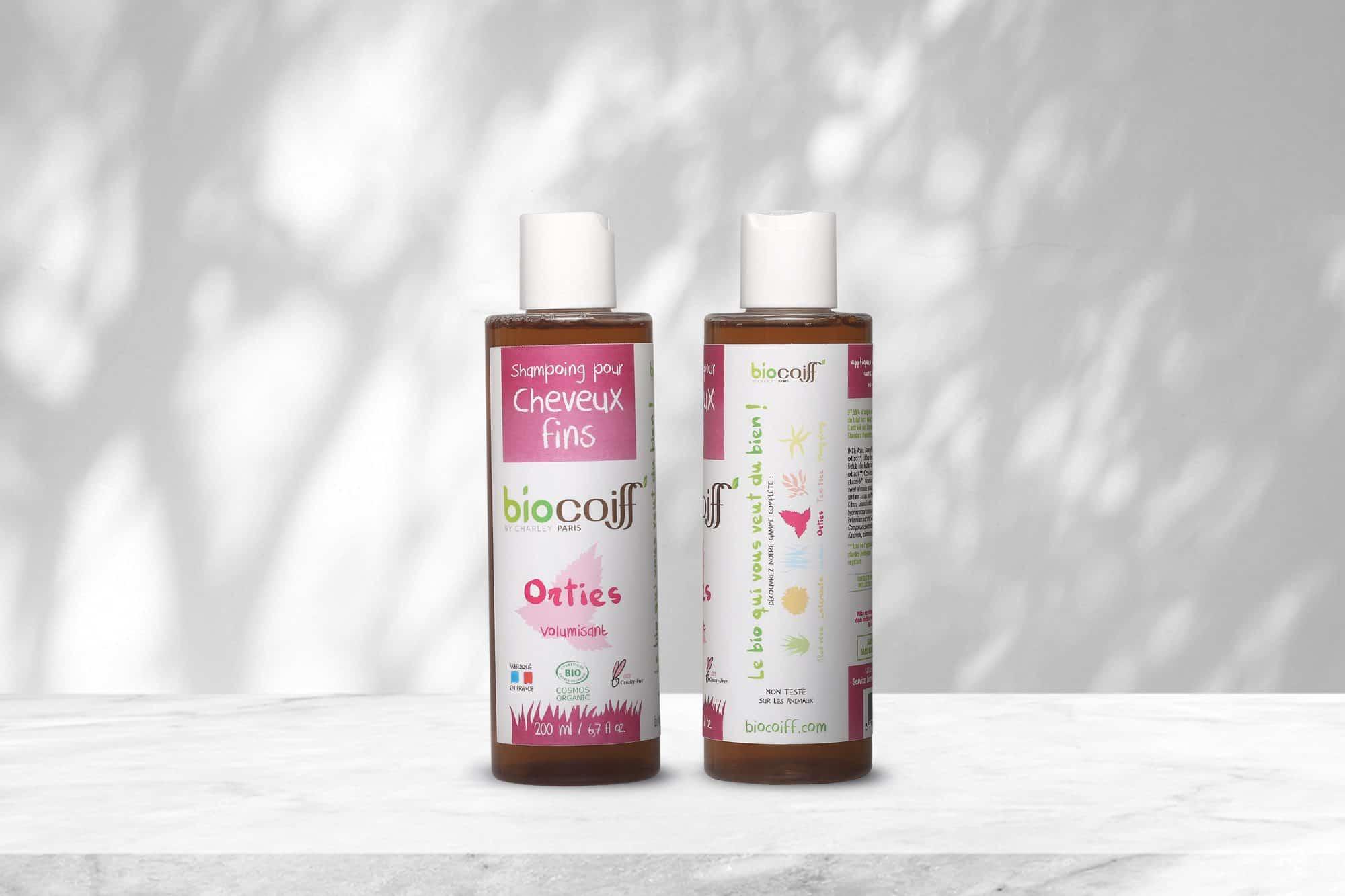Le shampoing bio de chez biocoiff aux orties