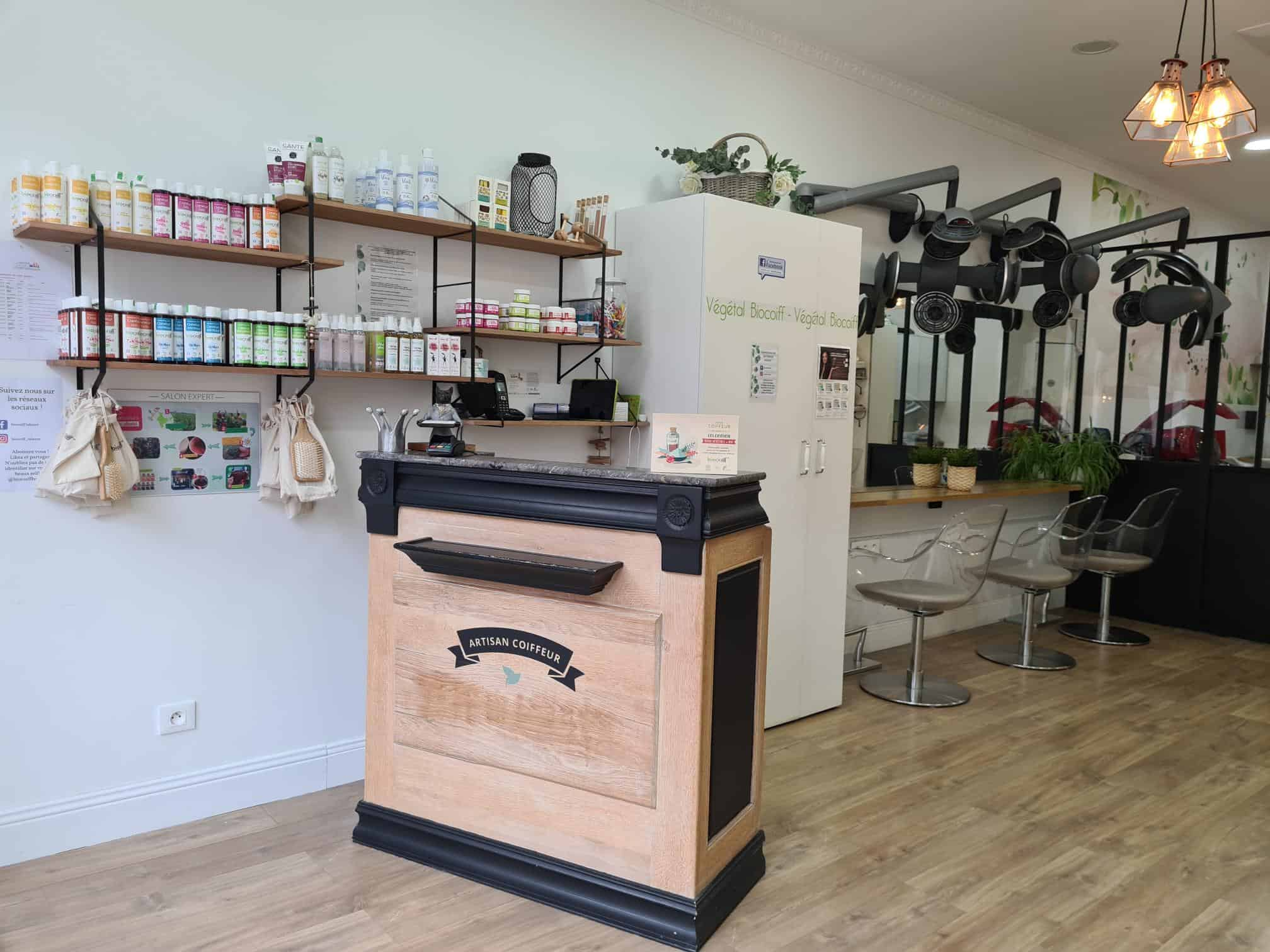 accueil Biocoiff Talence coiffeur végétal
