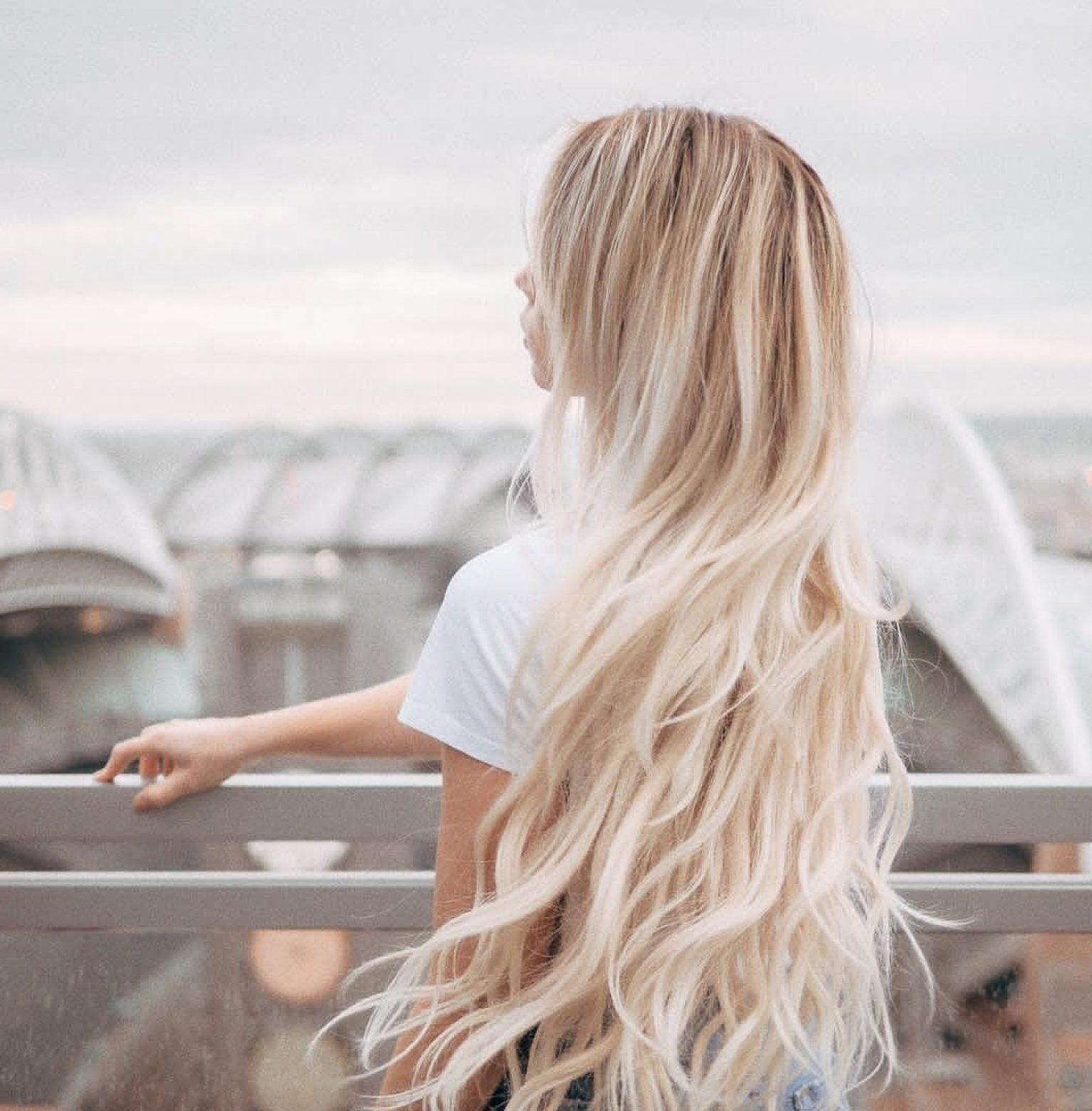 Cheveux blonds dégradé